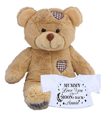 Personalised Teddy Bear Love Moon & Back Fathers Dad Mum Daddy Nanny Auntie Gift
