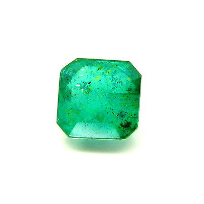 4.7Ct Green Emerald Quartz Doublet Square shape Faceted Gemstone from India