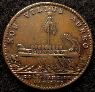 1755 American Beaver Token Very Scarce Betts-390 SHARP