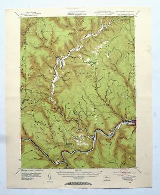 Renovo West Pennsylvania Vintage USGS Topo Map 1946 Cross Fork Topographic