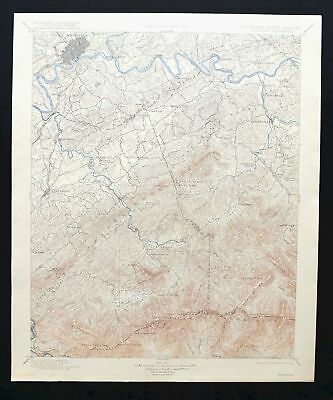 Knoxville Tennessee Rare Antique USGS Topo Map 1901 Sevierville Pigeon Forge