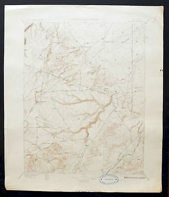 1897 Apishapa Colorado Pueblo Antique 30-minute USGS Topographic Topo Map