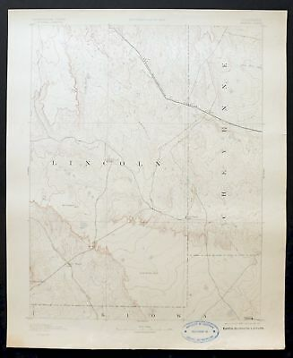 1893 Arroyo Colorado Rare Antique USGS Reconnaissance Topographic Topo Map
