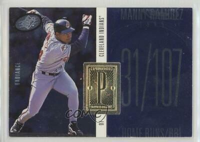 1998 SPx Finite Radiance #224 Manny Ramirez Cleveland Indians Baseball Card