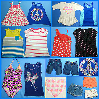 15 Piece Lot of Nice Clean Girls Size 7 Spring Summer Everyday Clothes ss214