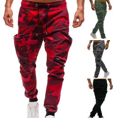 Designed Mens Camouflage Camo Pants Boys Joggers Sport Sweatpants Work Trousers