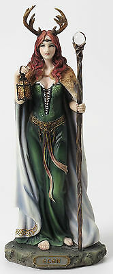 Elen Of The Ways Antlered Goddess Of The Forrest Colored Statue Figure