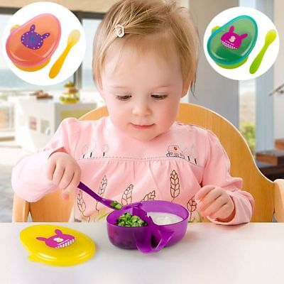 Handle Feeding Container Anti Spill Baby Food Storage Bowls Snacks Holder