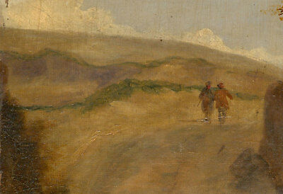 Early 20th Century Oil - Two Figures in a Landscape