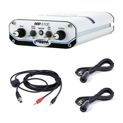 Rugged Radios RRP6100 Peltor Rally Intercom Communication System with Cables