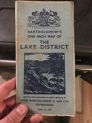 bartholomew map Lake District Paper