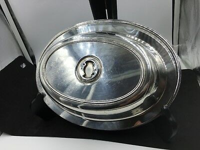 Homan Co. Silver-plated Covered Serving/Bread Tray #045