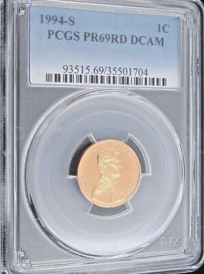 1994 S Proof Lincoln Memorial Cent - PCGS PR 69 RD DCAM Red Deep Cameo (1704)