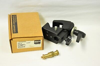 """Manfrotto 035 or 2915 super clamp with 1/4"""" x 20 threaded stud. NOS"""