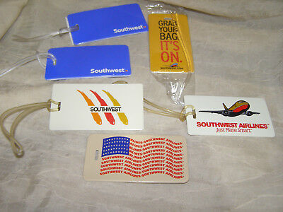 Southwest Airlines Bag Tags Lot of Six Vintage & New