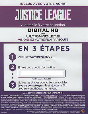 Code JUSTICE LEAGUE | Digital HD UV Copy | Digitale Kopie | Copie numérique