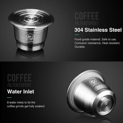 304 Stainless Steel Refillable Reusable Coffee Capsule Pod For Nespresso