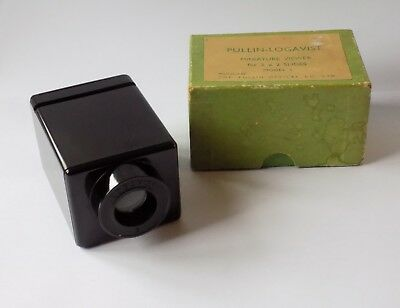 Vintage Pullin-Logavist Bakelite Miniature Slide Viewer. 2 X 2 Slides. Model S.