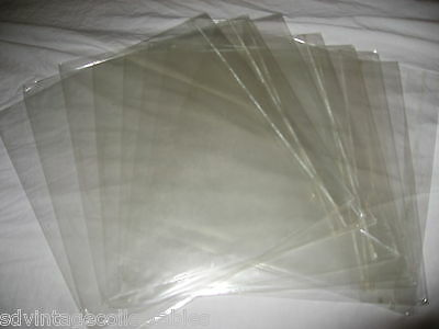 100 LOT Record Outer Plastic Sleeve Album fold top Used Master LP