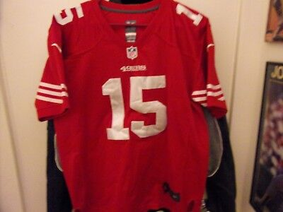 San Francisco 49ers   15 Michael Crabtree On Field Football Jersey Size  Youth L b981c5ed2