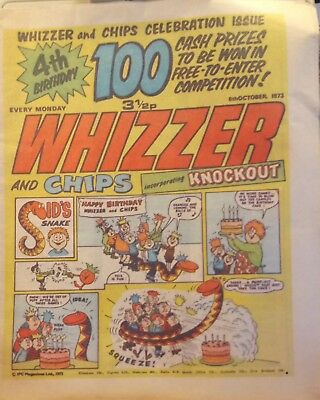 Whizzer and Chips Comic 4th Birthday Celebration Issue from 6th October 1973