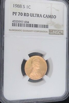 1988 S Proof Lincoln Memorial Cent/Penny - NGC PF 70 Red Ultra Cameo (7-004)