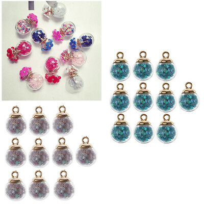 20x 16mm Glass Ball Mixed Star Charms Pendant DIY Jewelry Earring Finding