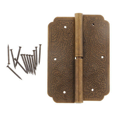 1Pc Large Butt Hinges For Cabinet/Drawer/Jewelry Box/Dolls House/Wooden Case