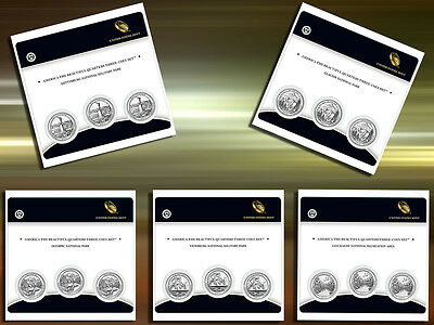 2011 America The Beautiful Complete 3 Coin US Mint Parks Sets All 5 Sets MIUSA