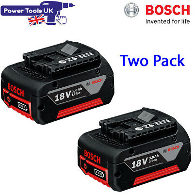 Bosch Two Pack GBA 18V 3.0AH Pro Li-ion Cool Pack Battery 1600Z00037 2607336236