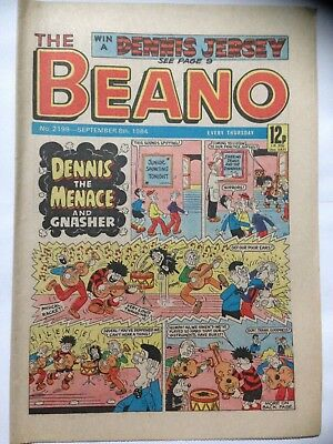 DC Thompson THE BEANO Comic. Issue 2199. September 8th 1984. **Free UK Postage**