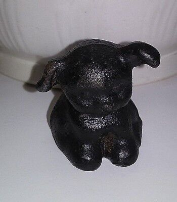 Pup Paper Weight of Cast Iron Vintage Item 2 Inches