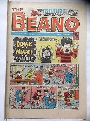 DC Thompson THE BEANO Comic. Issue 2206. October 27th 1984. **Free UK Postage**