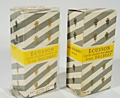 Lot 2 Vintage ECUSSON Jean Dalbret  Women's Cologne Perfume 110ml / 3.7oz Unused