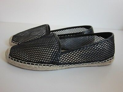 aa9c1c0e197 Rebecca Minkoff Black Perforated Espadrille Loafer Shoe Women s Size 9