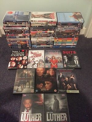 DVD Bundle - 50+ / TV Series Joblot, Scrubs, Luther, Ronaldo, Gascoigne