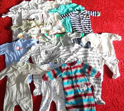 Huge Lot Baby Clothes Sleepers Footed Pajamas Cloud Island Boys Size 3M 3-6 Mo