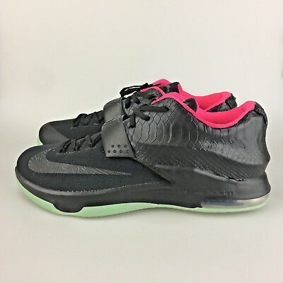 e01bed1f672 Nike KD VII Kevin Durant 7 12.5 Nike iD Black Python Snakeskin Glow in the  Dark