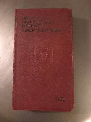 Spons - Architects And Builders Pocket Book From 1922