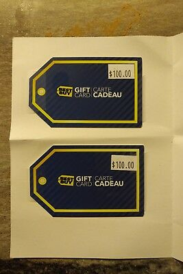 Brand New - $100 CAD Best Buy Gift Card x 2!