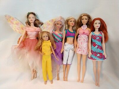 Barbie Doll Lot Of 6 Dolls Collector Fairy, Skipper