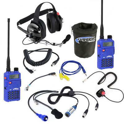 Rugged Radios Offroad Short Course Racing Driver to Crew RH5R Communications Kit