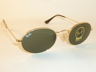 NEW RAY BAN Oval Flat Sunglasses Gold Frame RB 3547N 001 G