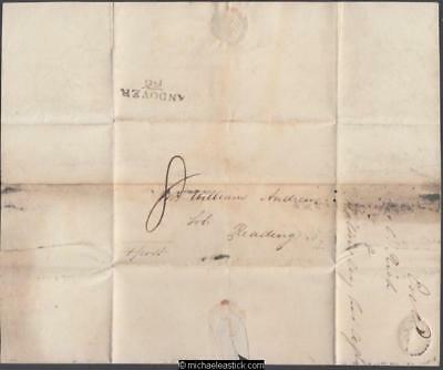 Great Britain 1828 (Sep) Entire Andover to Reading