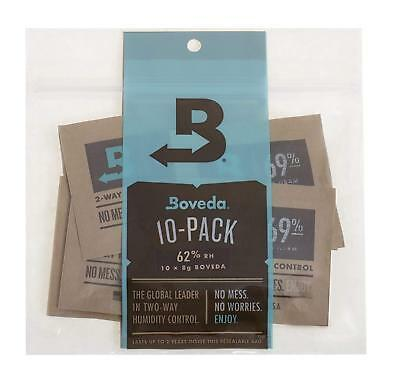 Humidity Control Moisture Pouch Boveda 62-Percent RH 2-Way 8 gram 10 Pack Set
