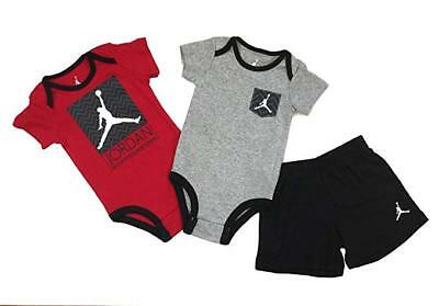 size 40 62e0a e28e5 NIKE Jordan Infant Baby Bodysuit and Shorts 3 Pcs Layette Set