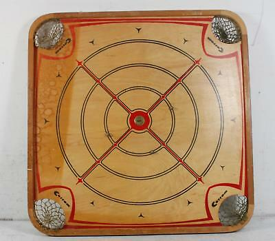Vintage 1960's Carrom 106 Wooden Double Sided Multi Game Board