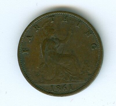 Great Britain 1861 Farthing--Circulated