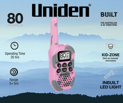 Uniden UH45CP 80 Channel UHF CB Handheld Radio (Walkie-Talkie) with Kid Zone