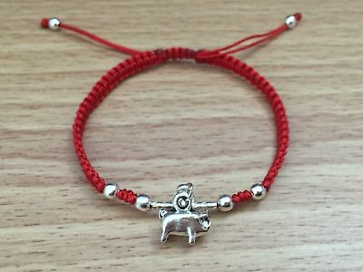 Chinese Year of Pig 2019 Feng Shui Lucky Red String Braided Shamballa Bracelet